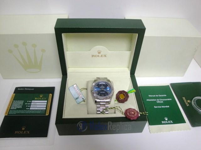 rolex replica daydate ll acciaio blue dial president orologio replica copia imitazione
