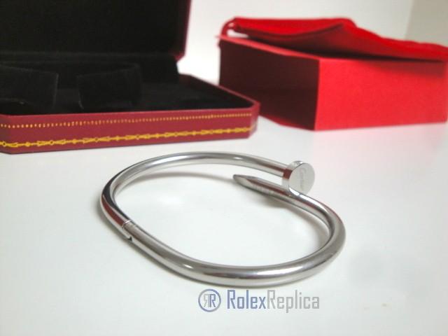 Cartier replica gioiello bracciale juste un clou white gold