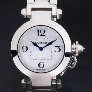 Cartier replica pasha white dial acciaio orologio imitazione perfetta