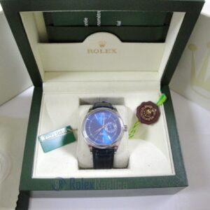 rolex replica cellini date blue dial orologio replica cinturino pelle