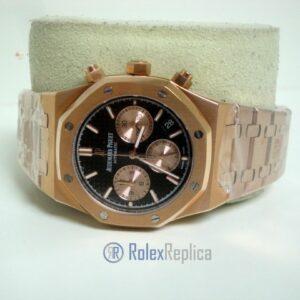 audemars piguet replica chrono royal oak leo messi rose gold black dial imitazione copia