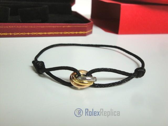 Cartier replica gioiello bracciale trinity black