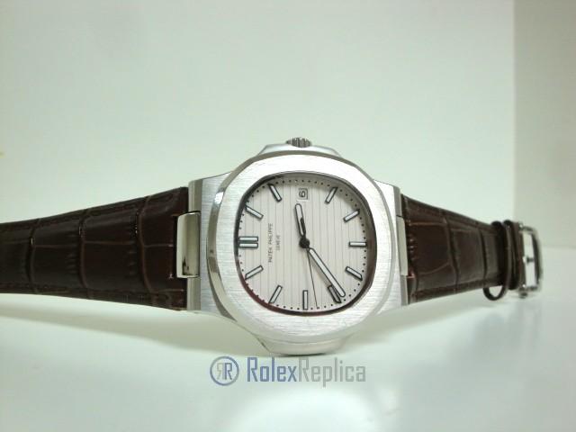 patek philippe replica nautilus acciaio white dial skeletron orologio replica