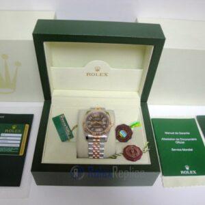 rolex replica datejust acciaio rose gold brown dial jubilèè orologio imitazione