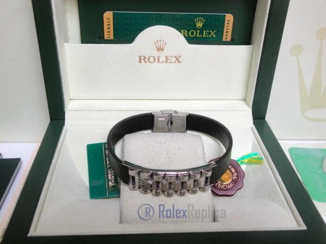 Rolex replica gioielli bracciale jubilèè-style acciaio-pelle black