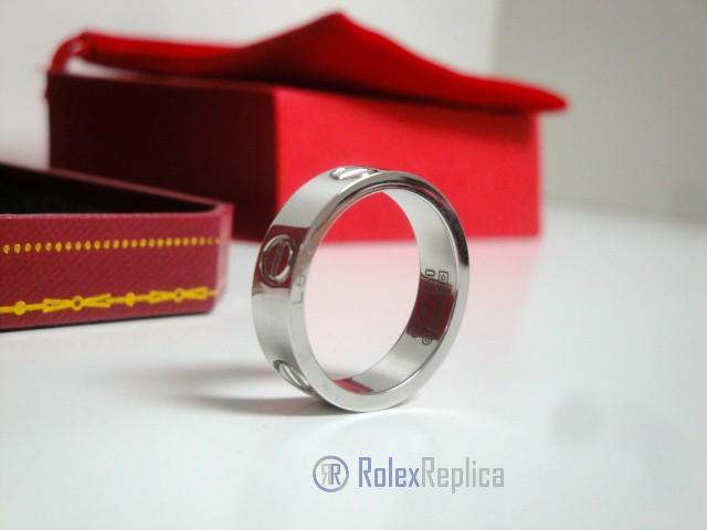 Cartier replica gioiello anello love white gold