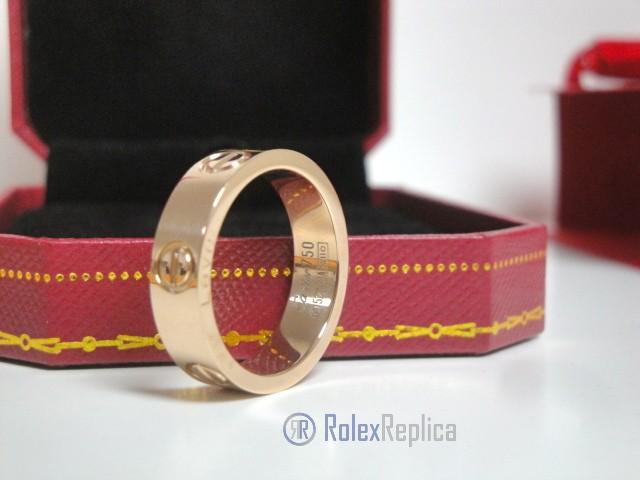 Cartier replica gioiello anello love rose gold