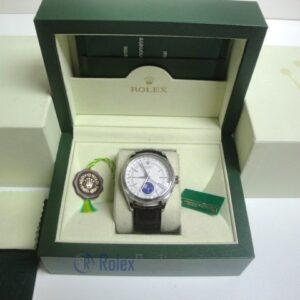 rolex replica cellini moonphase white dial orologio replica cinturino pelle