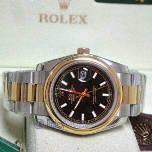 rolex replica datejust acciaio oro oyster black dial barrette orologio imitazione