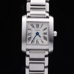 Cartier replica tank francaise acciaio white dial orologio imitazione perfetta