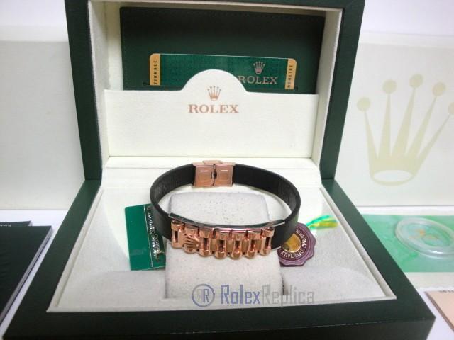 Rolex replica gioielli bracciale jubilèè-style everose-pelle black