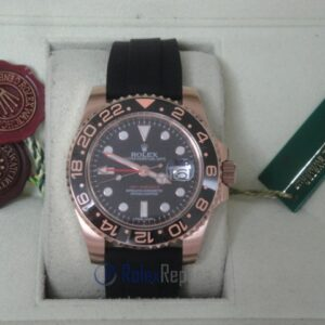 rolex replica GMT master II ceramica rose gold strip rubber orologio replica