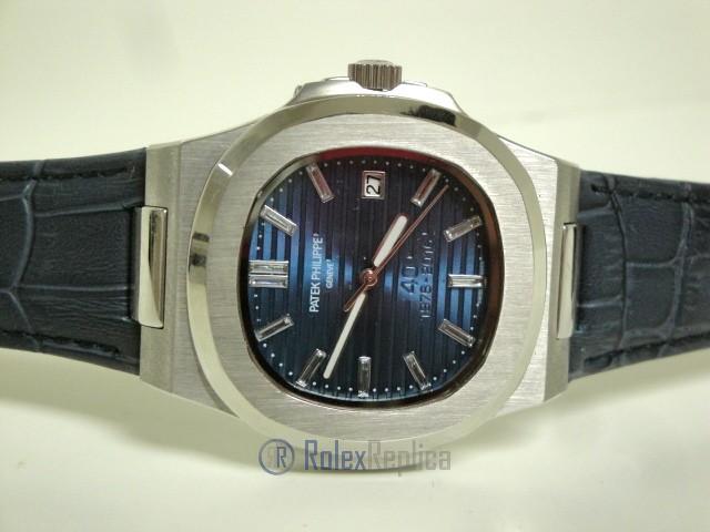 patek philippe replica nautilus acciaio blue dial skeletron orologio replica