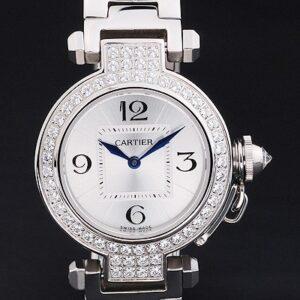 Cartier replica pasha acciaio brillantini bezel orologio imitazione perfetta