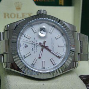 rolex replica datejust acciaio oyster white dial orologio imitazione