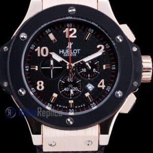 hublot replica big bang rose gold black dial orologio copia