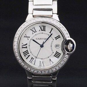 Cartier replica ballon bleu acciaio brillantini bezel white dial orologio imitazione perfetta
