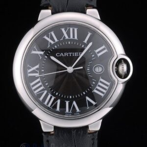Cartier replica ballon bleu acciaio black strip leather orologio imitazione perfetta
