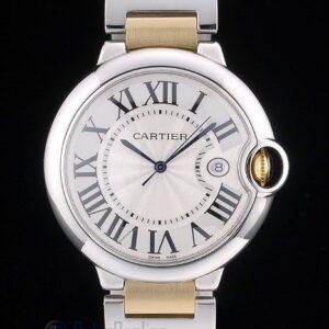 Cartier replica ballon bleu acciaio oro white dial orologio imitazione perfetta