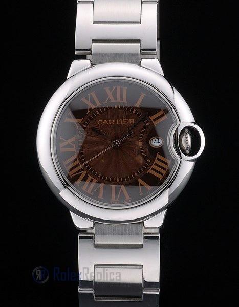 Cartier replica ballon bleu acciaio brown dial orologio imitazione perfetta