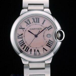 Cartier replica ballon bleu acciaio rosèè dial orologio imitazione perfetta