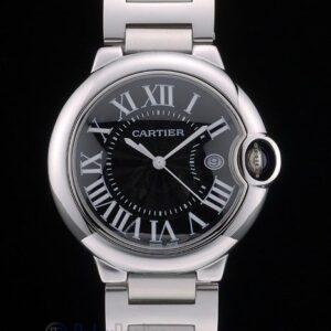 Cartier replica ballon bleu acciaio black dial orologio imitazione perfetta