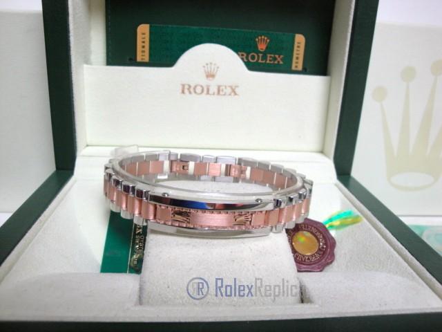 Rolex replica gioielli bracciale II president-style acciaio everose