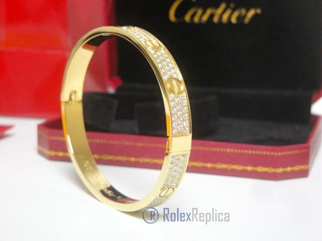 Cartier replica gioiello bracciale love yellow gold pavè diamond