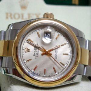 rolex replica datejust acciaio oro oyster grey dial barrette orologio imitazione