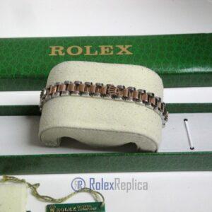 Rolex replica gioielli bracciale jubilèè strip oro rosa acciaio bi-colour