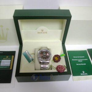 rolex replica daydate ll acciaio brown dial oyster orologio replica copia imitazione
