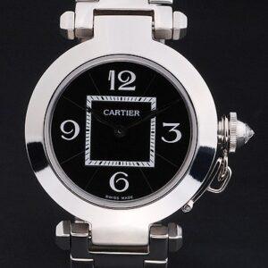 Cartier replica pasha black dial acciaio orologio imitazione perfetta