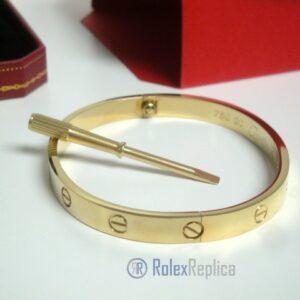 Cartier replica gioiello bracciale love oro giallo