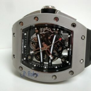 richard mille replica RM038 bubba watson skeletron titanium limited edition strip rubber-b