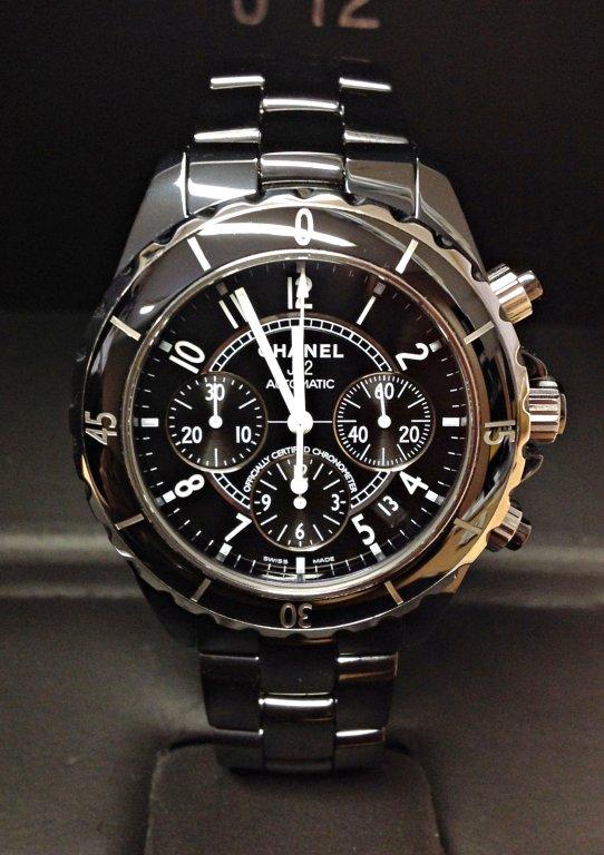 Chanel replica J12 Chronograph H0940 Black Ceramic orologio replica copia
