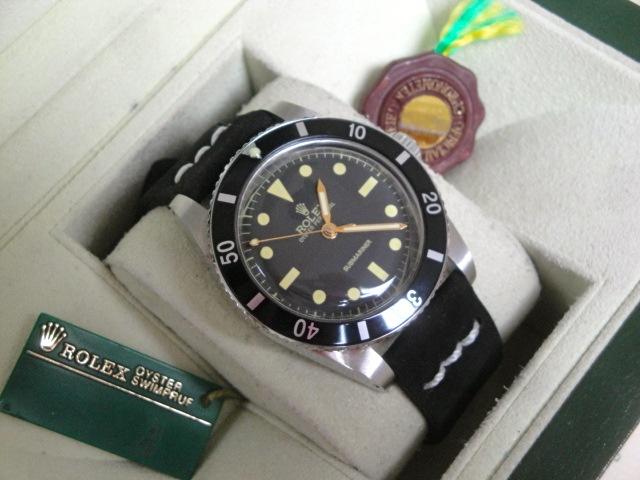 Rolex replica submariner 5516 strip leather plexi vintage orologio replica