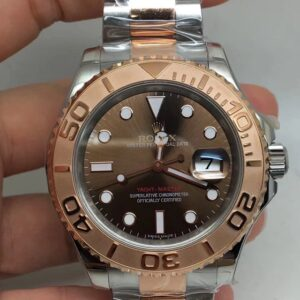 REPLICA ROLEX YACHTMASTER 40MM 126621 TWO TONE BROWN DIAL CLONE MOVEMENT
