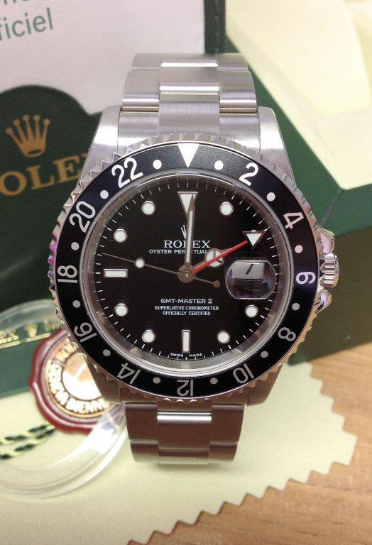 Rolex replica GMT Master II 16710 Black Bezel orologio replica