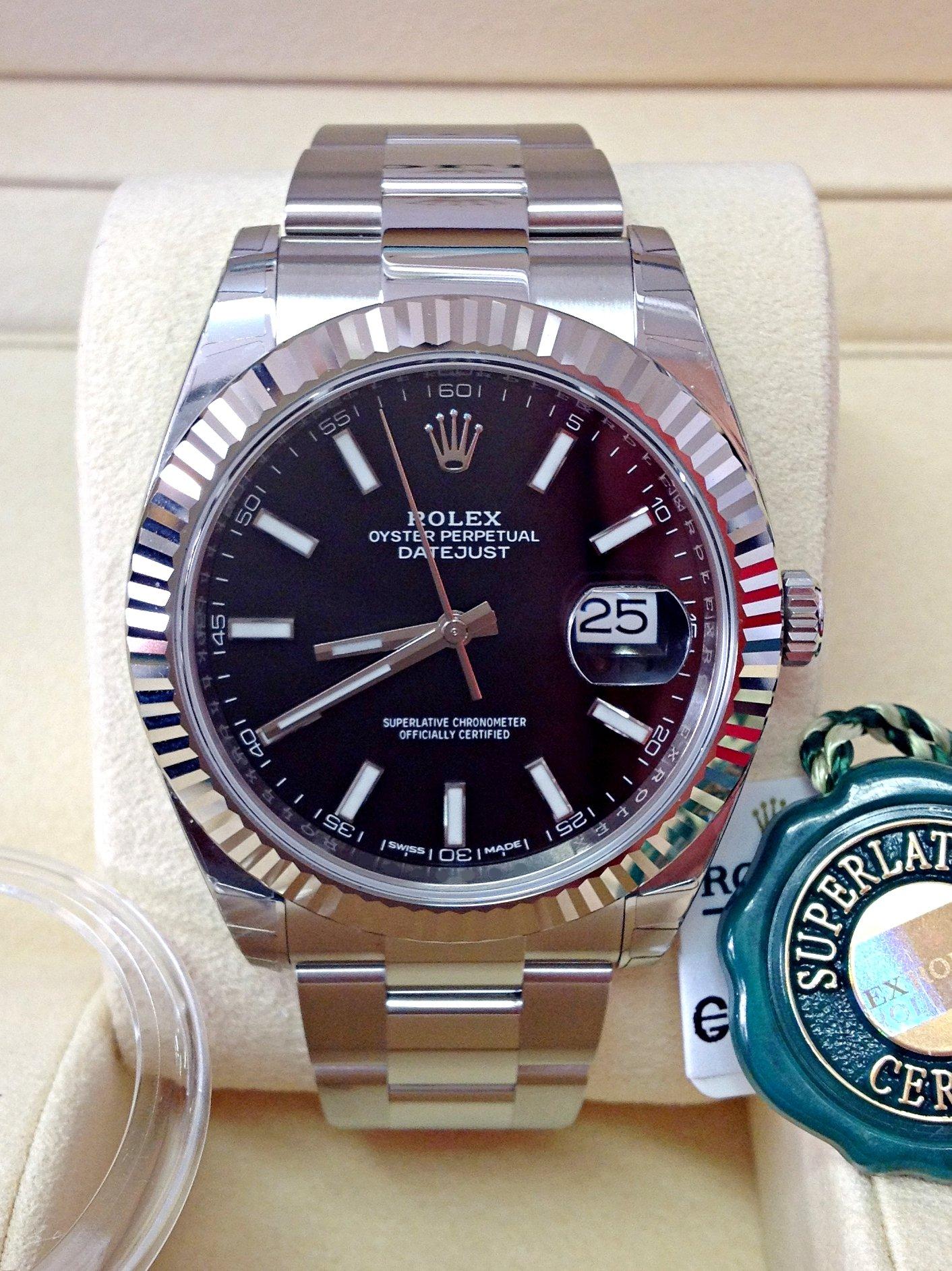Rolex replica Datejust 41mm 126334 Black Dial oyster steel 3235 clone movement