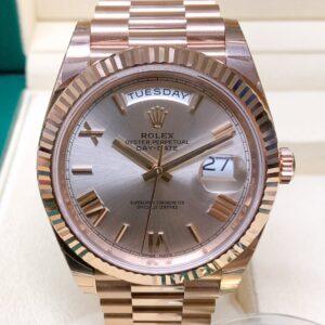Rolex replica Day-Date 40 228235 Rose Gold clone movement