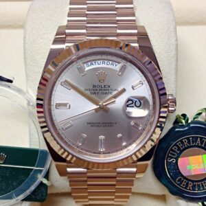 rolex replica daydate ll rose gold argentèè dial orologio replica copia imitazione