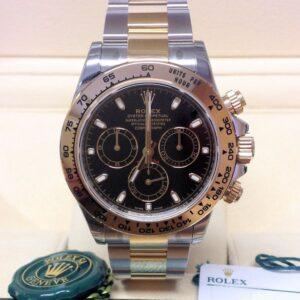 rolex replica daytona crono acciaio oro black dial orologio replica copia imitazione