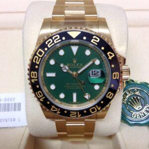 rolex replica GMT master II oro green dial ceramica orologio replica