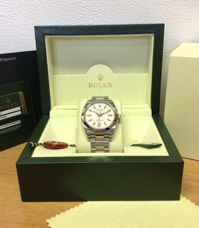 Rolex replica Milgauss White Dial 116400 orologio replica copia