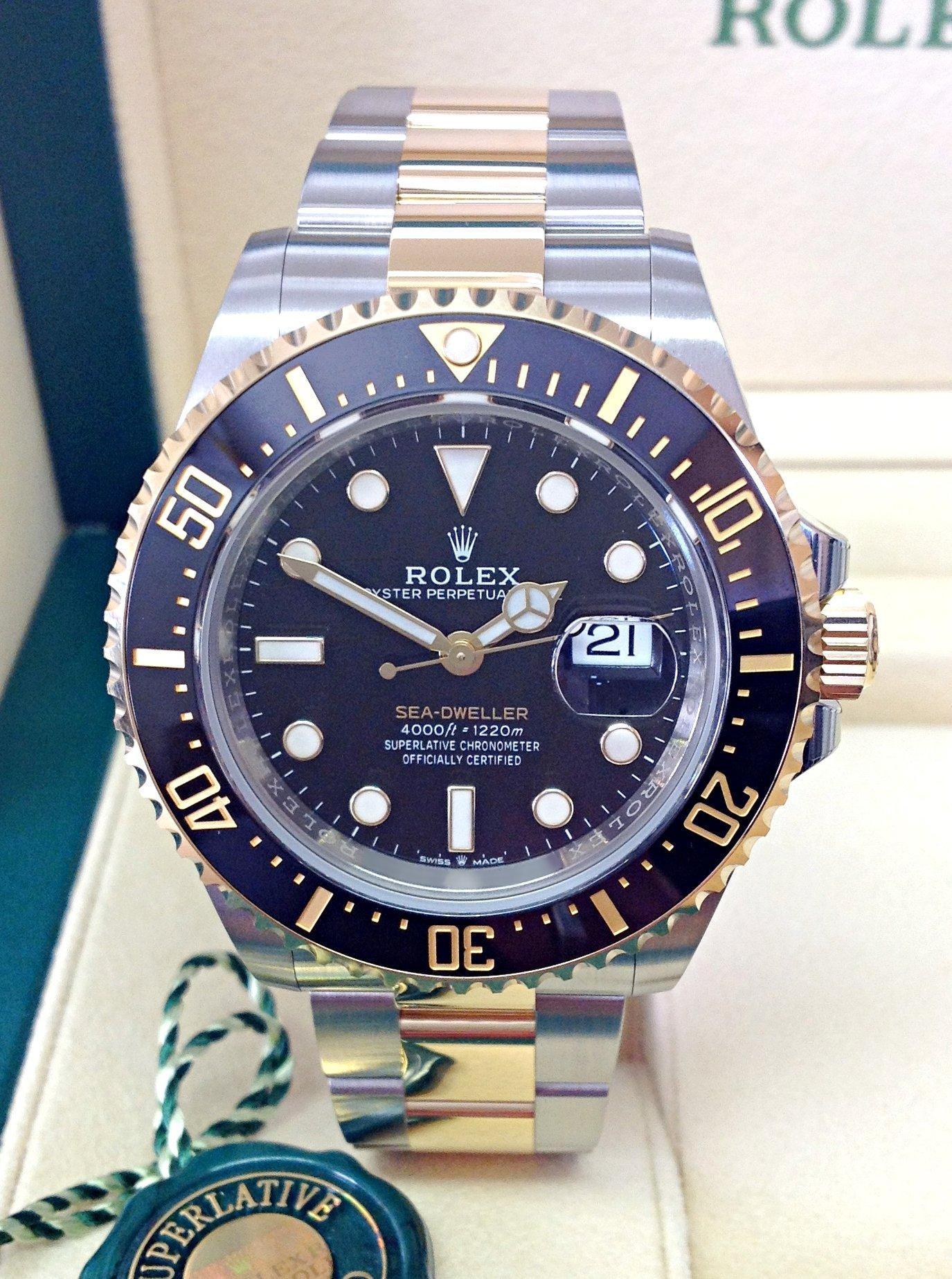 Rolex replica Sea-Dweller 126603 43mm Bi-Colour 3235 clone movement