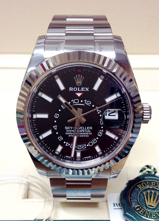 rolex replica sky-dweller black dial 326934 stainless steel orologio replica