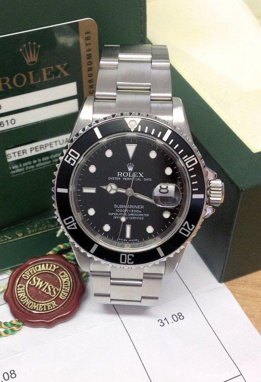 Rolex replica Submariner Date 16610LN Engraved Rehaut classic
