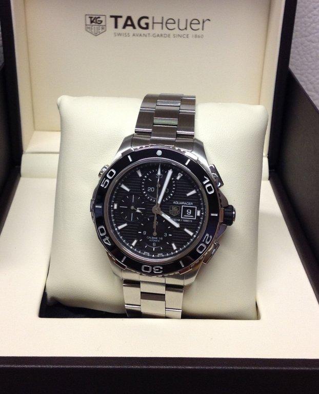 Tag-Heuer replica Aquaracer acciaio black dial Chronograph CAK2110 orologio copia