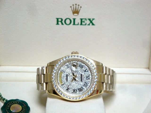 rolex replica day-date SARU brillantine yellow gold orologio replica