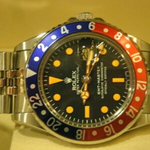 rolex replica GMT MASTER 1675 blue-red bezel jubilèè bracelet replica watch